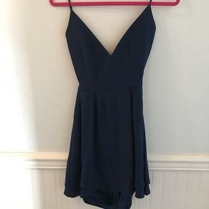 Jennifer Hope Lace Up Dress. Size 2. Navy
